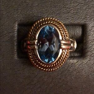 Absolutely Gorgeous Sterling, 14k Gold and Topaz